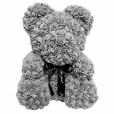 Flower Bear Lovely Teddy Bear Lovers XMAS Gifts Wedding Rose Bear 25CM GIFT UK 2