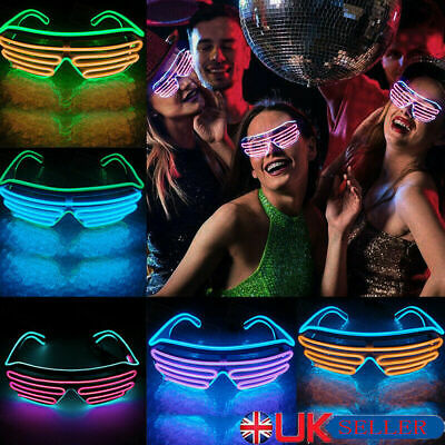 LED EL Wire Glasses Light Up Glow Sunglasses Eyewear Shades for Nightclub Party 4
