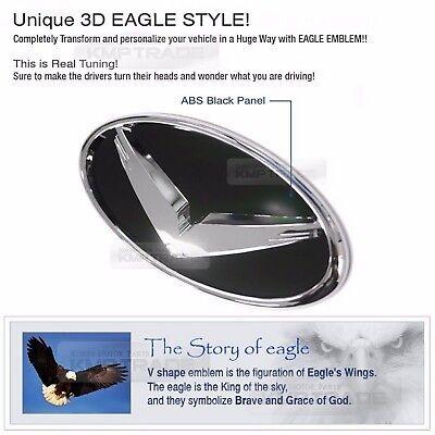 Eagle Grille Trunk Horn EMBLEM Badge SET For 2015 2016 LF Sonata