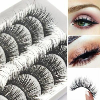 10 Pairs 3D Mink Lashes False Eyelashes Long Lasting Lashes Natural Lightweight