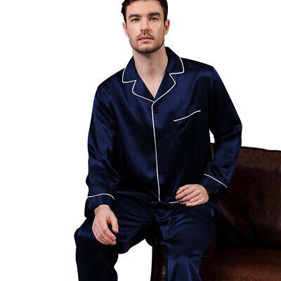 Mens Silk Satin  Pajamas - PJ Set  Top and Bottom 9