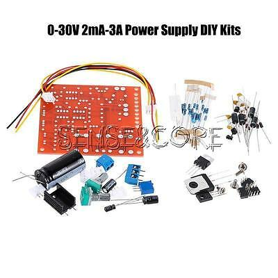 0-30V 2mA-3A Adjustable DC Regulated Power Supply DIY Kit Short with Protection 5