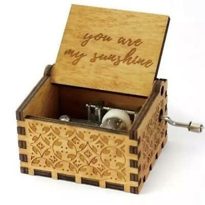 You Are My Sunshine-Wooden Engraved Music Box Gift for Mom/Dad To Daughter/Son 7