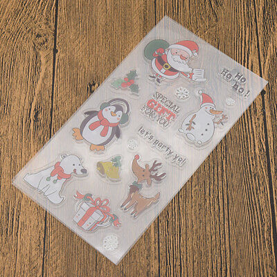 Various Silicone Clear Stamp Transparent Rubber Stamps DIY Scrapbooking Craft 5