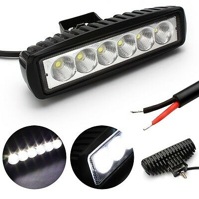 10Pcs 18W 6INCH LED WORK LIGHT BAR OFFROAD FLOOD DRIVING TRUCK UTE UTV VAN  LAMP 4