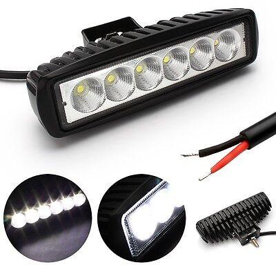 10Pcs 18W 6INCH LED WORK LIGHT BAR OFFROAD FLOOD DRIVING TRUCK UTE UTV VAN  LAMP 4