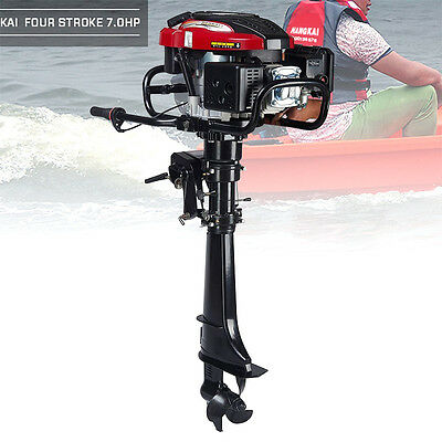 7 HP 4-Stroke Outboard Motor Transom Mount Boat Engine Air Cooling 196CC 4