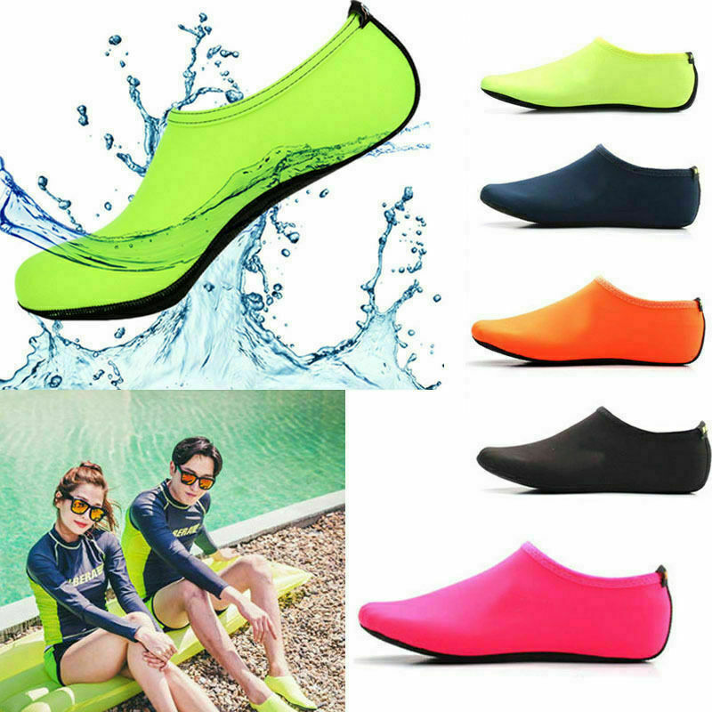 Men Womens Water Shoes Barefoot Aqua Socks Quick-Dry Beach Swim Sports Exercise 2