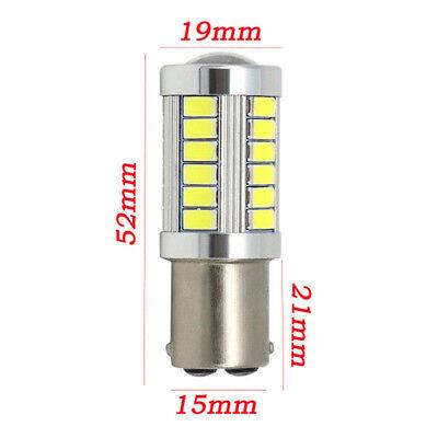2PCS Bianco BA15D 33SMD LED 1157 Auto Coda Freno Stop Coda Lampadina Globo 12v 9