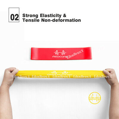 6PCS Resistance Bands Power Heavy Strength Exercise Fitness Gym Crossfit Yoga AU 6