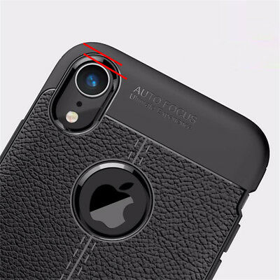 For iphone Xs Max Xr X 8 7 6S Silicone Rubber TPU Leather Slim Back Cover Case 7