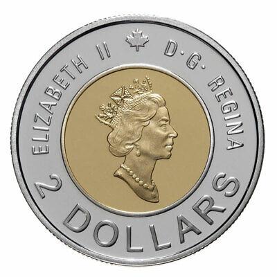 Canada Toonie 2 Dollars Coin, Path of Knowledge, Female Polar Bear&2 cubs, 2000 2