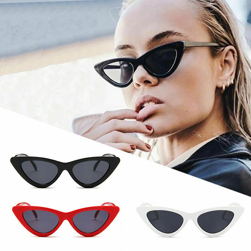 Womens Cat Eye Sunglasses Retro Classic Designer Vintage Fashion Shades Eyewear 2