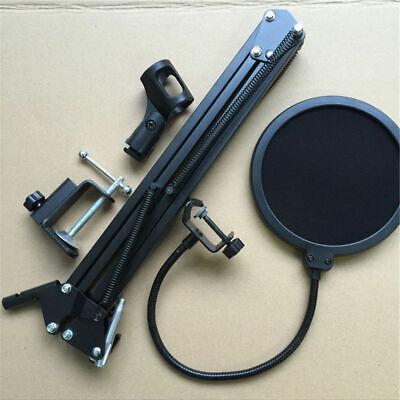 Microphone Suspension Boom Arm Desktop Stand Mic Holder Mount Bonus Pop Filter 10