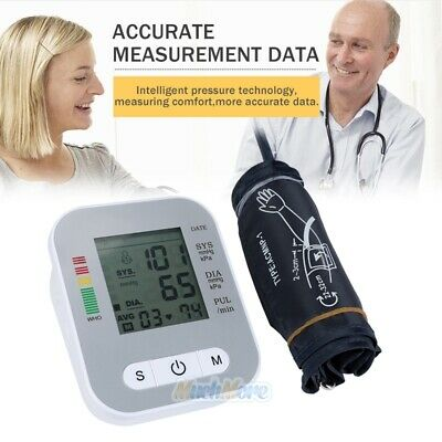 Automatic Digital LCD Arm Cuff Blood Pressure Pulse Monitor Sphgmomanometer NEW 4