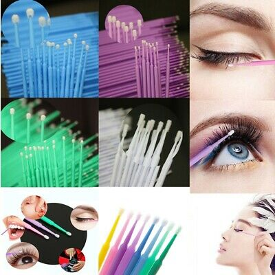 500 Microbrush Disposable Micro Brush Applicators Eyelash Extensions Makeup Tool 4