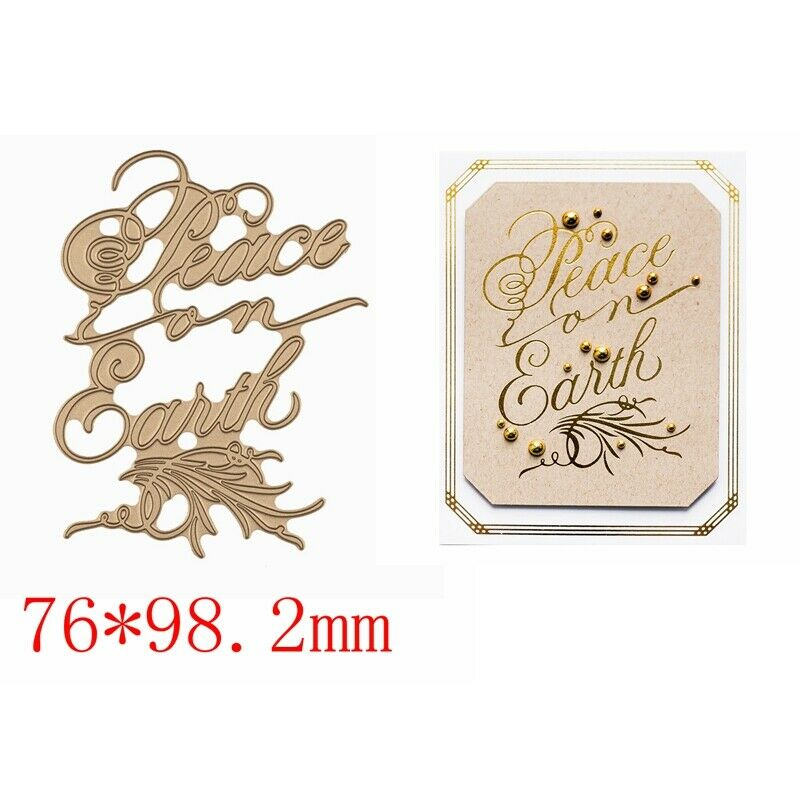 Greetings Wishes Word Hot Foil Plates Dies Stencil Embossing Craft Scrapbooking 8