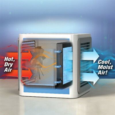 AU NEW Portable Mini Air Conditioner Cool Cooling For Bedroom Cooler Fan 3