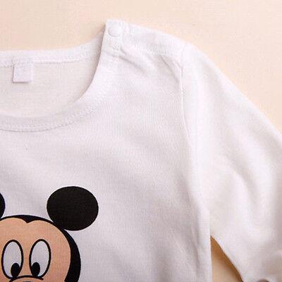 3pcs Newborn Baby Boys Girls Kids Cartoon Romper Hat Pants Bodysuit Outfits Sets 9