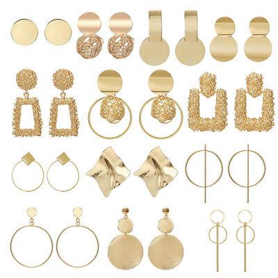 Fashion Women Metal Geometric Pendant Dangle Drop Statement Earrings Jewelry 3