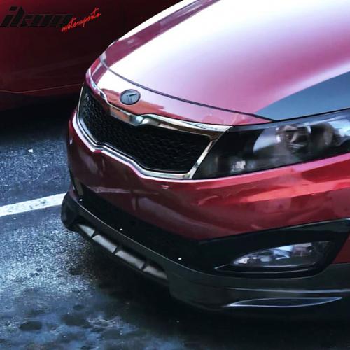 Fits 14-15 Kia Optima SX 4 Door Sedan Ikon Style Front Bumper Lip Splitter PP