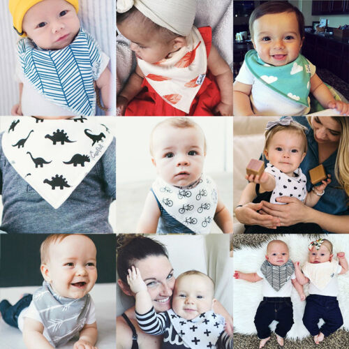 4Pcs Infant Baby Kids Burp Feeding Bibs Saliva Towel Dribble Triangle Bandana 2