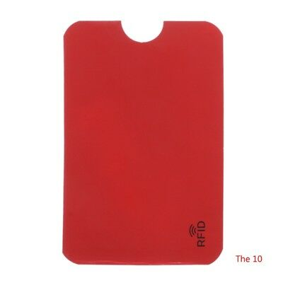 10PCS Credit Card Protector Secure Sleeve RFID Blocking ID Holder Foil Shield 4