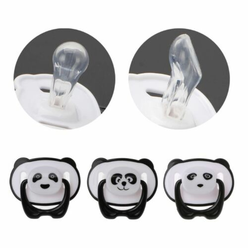 New Panda Newborn Baby Silicone Orthodontic Soother Dummy Pacifier Infant Nipple