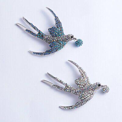 Fashion Brooch Pin Animal Bird Crystal Pearl Enamel Women Wedding Jewelry Gift 7