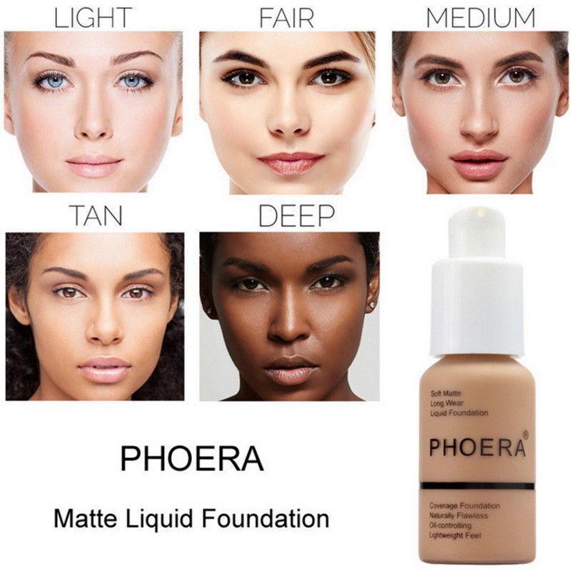 PHOERA Soft Matte Full Coverage Liquid Foundation Concealer Longlasting ON 5