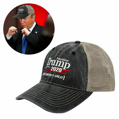 Trump 2020 MAGA Hat Keep Make America Great Again Mesh Embroidered Cap A+++ USA 5