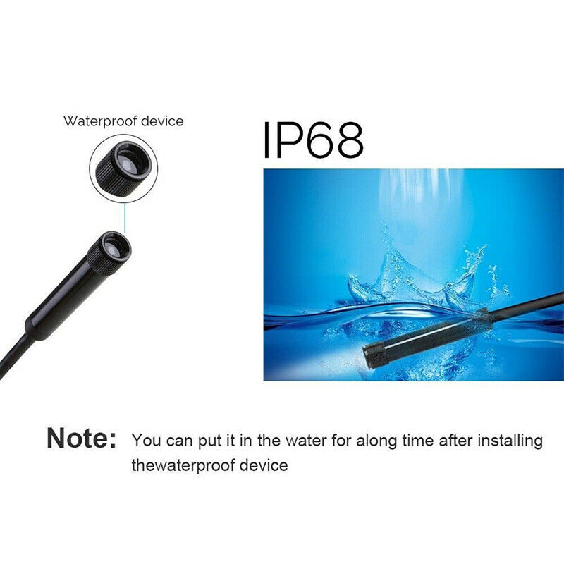 3 in1 USB Type-C Endoscope Inspection Borescope 5.5/7/8mm Lens HD Camera IP68 OI 4