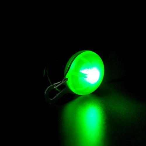 Mini Pet Dog Cat Puppy LED Flashing Collar Safety Night Light Keyring Pendant 10