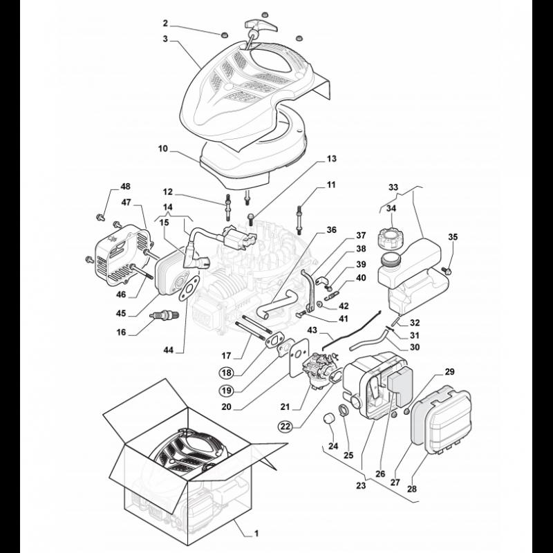 Castelgarden Wbe 140 Engine Stud Bolt Fits Xa 50 Gs 1185509300