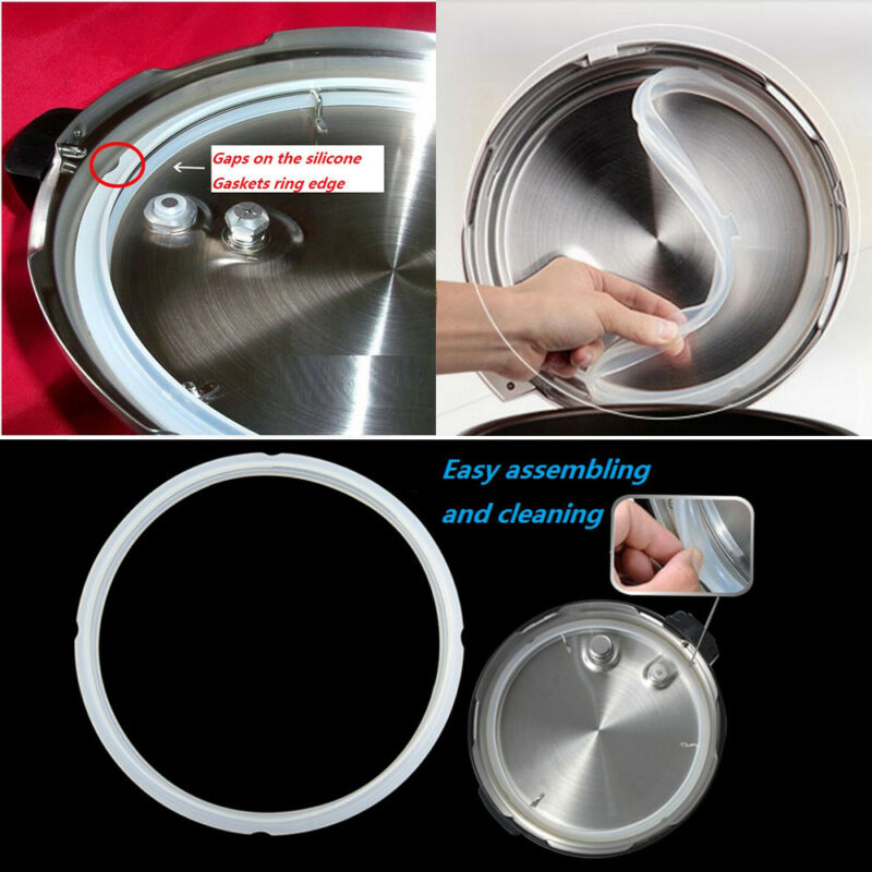 HOME SILICONE RUBBER Clear Gasket Sealing Ring Tool Pressure Cooker .