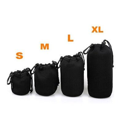 Soft Neoprene S M L XL Lens Pouch Bag Canon Nikon Sony Pentax DSLR Camera 2