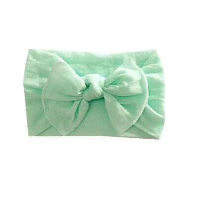 Newborn Baby Rabbit Headband Cotton Elastic Bowknot Hairband Girls Headwrap Band 9