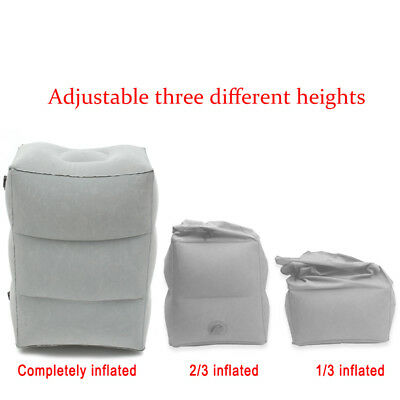 Inflatable Travel Footrest Leg Foot Rest Car Seat Pillow Portable Pad Kids Bed 8