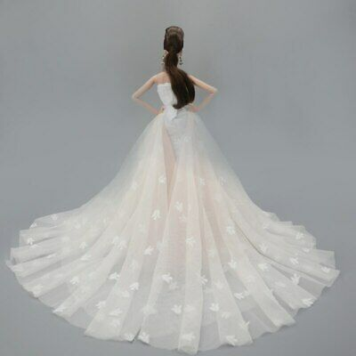 Colorful Floral High Fashion Doll Clothes for 1/6 Doll Wedding Dress Party Gown 3