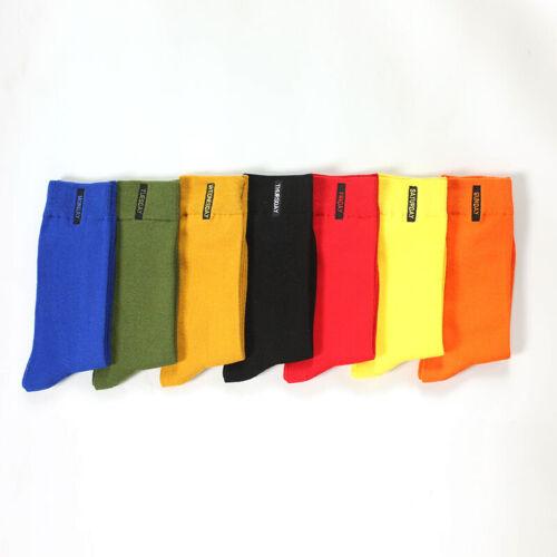 2Paire Homme Chaussette Socquette Coton Couleur Unie Broderie Affaire Style Mode 2