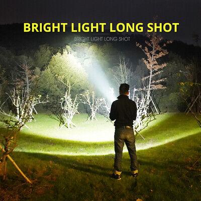 Super-bright 90000lm flashlight CREE LED P70 Tactical torch USB +5000mAh battery 6
