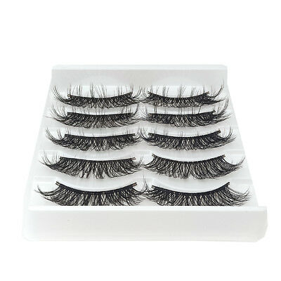20 Pairs 3D Mink Handmade Fake Eyelashes Natural Long Wispy Makeup False Lashes 4