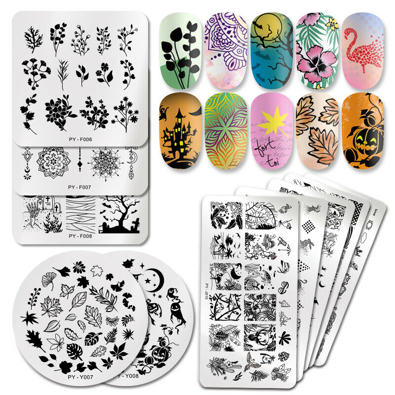 PICT YOU Nail Stamping Plates Christmas Fowers Tropical Geometry Image Templates 2