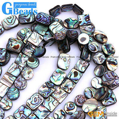 1 Of 11free Shipping Natural Orted Shapes Abalone S Flatback Beads For Jewellery Making 15