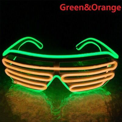 LED EL Wire Glasses Light Up Glow Sunglasses Eyewear Shades for Nightclub Party 6