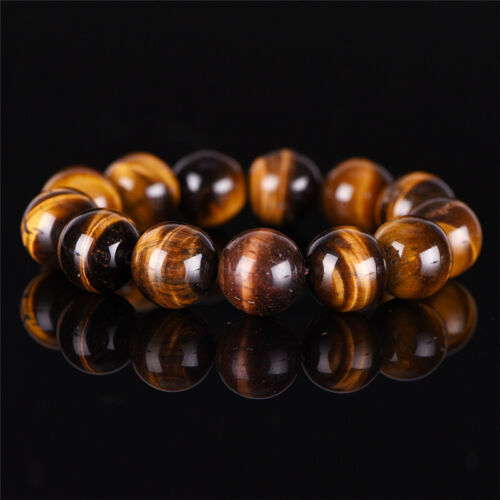 Natural Tiger Eye Stone Lucky bénir perles homme Bracelet Bijoux femme 9