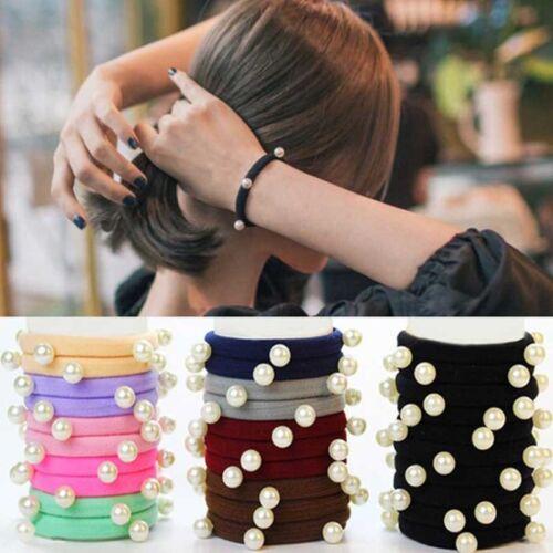 10 STÜCKE Frauen Mädchen Haarband Krawatten Seil Ring Elastische Hairband PferBC