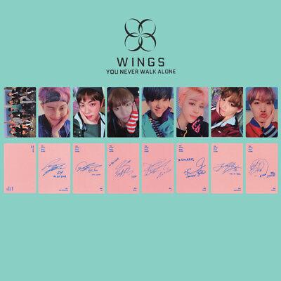 KPOP Bangtan Boys Love Yourself Tear WINGS Wings Tour Self Made Photo Card 2