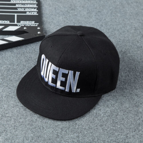f63e53acb24 King And Queen Letter Hat Adjustable Baseball Cap Hats Hip Hop Couple  Snapback 4 4 of 7 ...