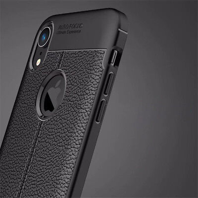 For iphone Xs Max Xr X 8 7 6S Silicone Rubber TPU Leather Slim Back Cover Case 10